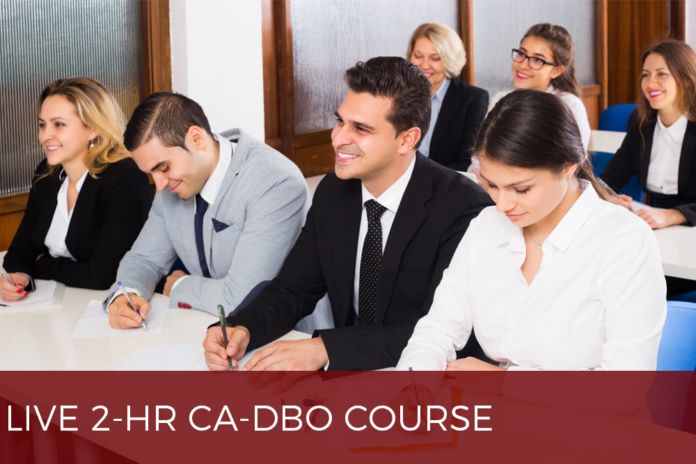 2HR CA DBO COURSE
