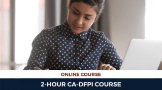 2HR CA-DFPI Online Course